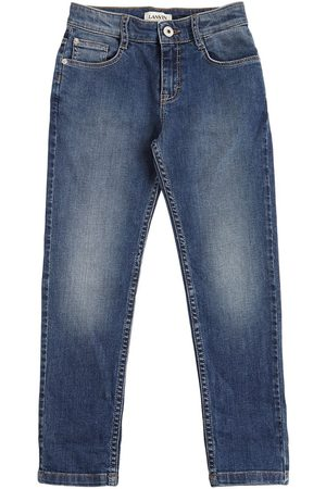 Lanvin Washed Stretch Cotton Jeans