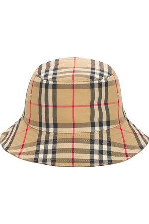 Burberry Boys Hats - Check Blend Cotton Bucket Hat