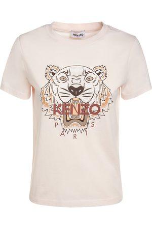 Kenzo Women T-shirts - Classic Tiger Logo Cotton T-shirt