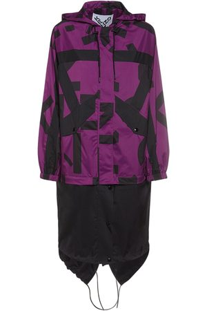 Kenzo Women Sports Jackets - Monogram Long Nylon Windbreaker