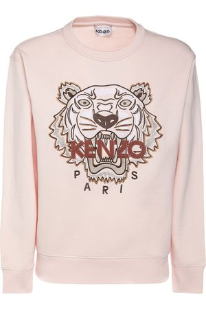 Kenzo Women Sweatshirts - Classic Tiger Logo Cotton Sweatshirt