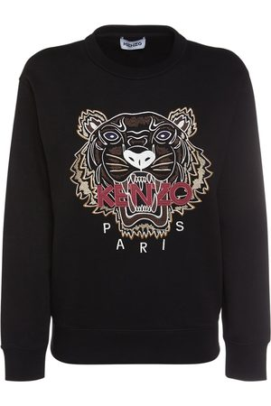 Kenzo Women Sweatshirts - Classic Tiger Logo Cotton Sweatshirt