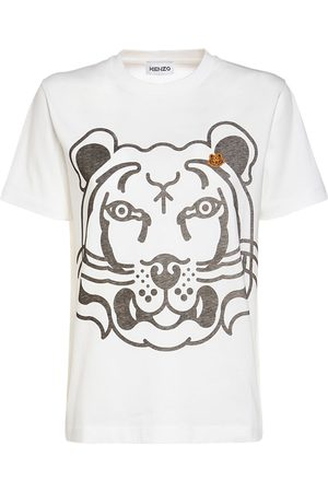 Kenzo Tiger Logo Printed Cotton T-shirt
