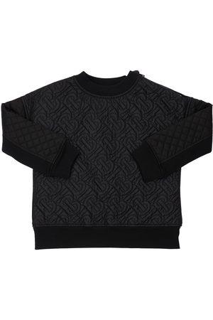 Burberry Boys Sweatshirts - All Over Logo Cotton Sweatshirt