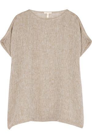 Eileen Fisher Women Tunics - Stone linen-gauze tunic top