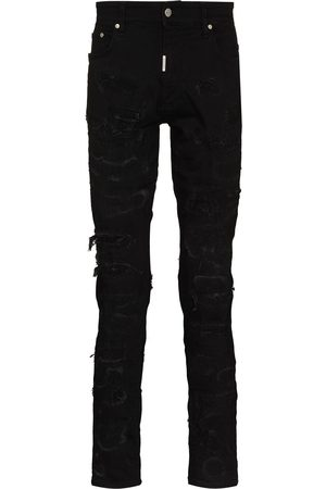Represent Ripped distressed skinny jeans