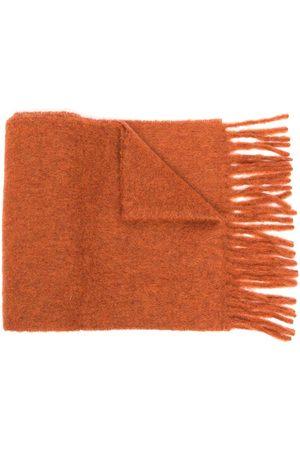 Marni Women Scarves - Logo-patch fringed scarf