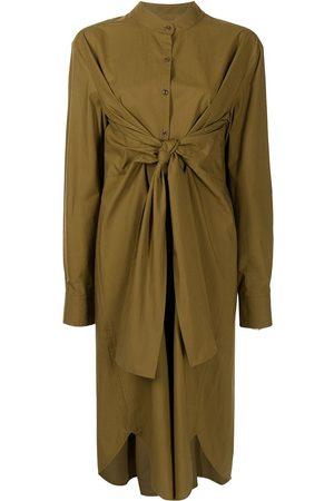PROENZA SCHOULER WHITE LABEL Tie-fastening shirt dress