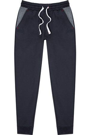 HUGO BOSS Contemporary navy stretch-cotton sweatpants