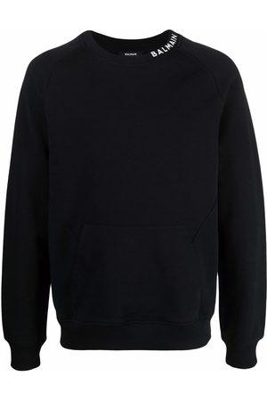 Balmain Men Sweatshirts - Logo collar sweatshirt