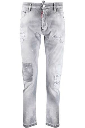 Dsquared2 Ripped-detailing low-rise skinny jeans - Grey