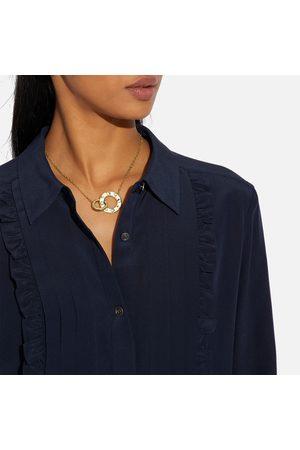 Coach Women's Pegged Enamel C 20 Necklace