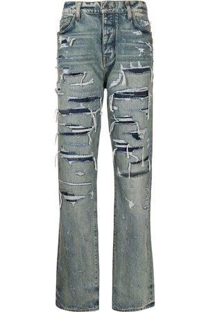AMIRI Distressed straight-leg jeans