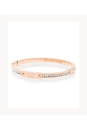 Michael Kors Women Bracelets - Women's Brilliance -Tone And Crystal Hinged Bangle Bracelet