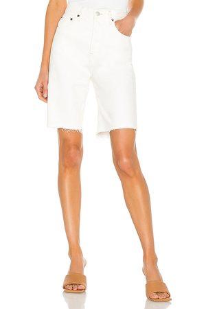 AGOLDE 90's Pinch Waist Short in White.