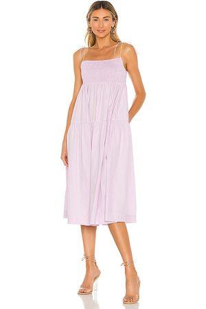 SWF Babydoll Midi Dress in Lavender.