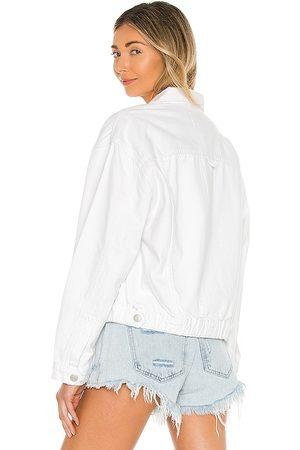 Pistola Elsa Elastic Waistband Jacket in White.