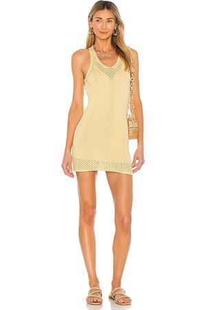 superdown Khloe Knit Dress in Lemon.