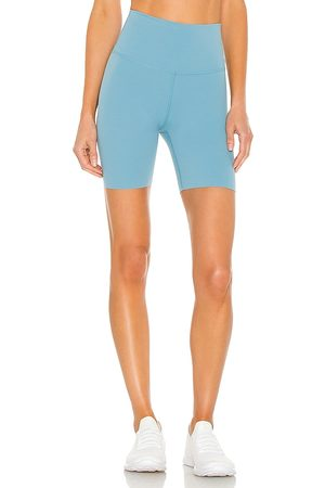 Nike Yoga Luxe 7 Short in Blue.