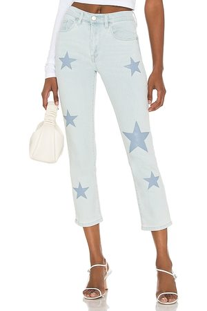 BLANK NYC Madison Crop Straight Leg Jean in Blue.
