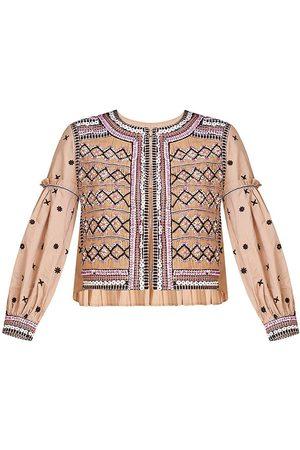 VERONICA BEARD Women's Rocci Boxy Jacket - Tan - Size XL