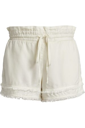 Bella Dahl Women's Fray Hem Shorts - Soft Sand - Size Large