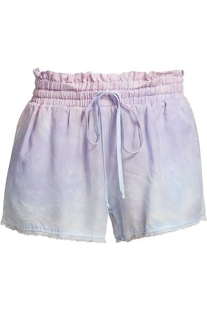 Bella Dahl Women's Fray Hem Tie-Dye Shorts - Paloma Cloud Dye - Size Large