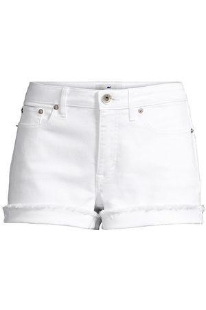 Vineyard Vines Women's Jamie High-Rise Denim Cutoff Shorts - Cap - Size 31