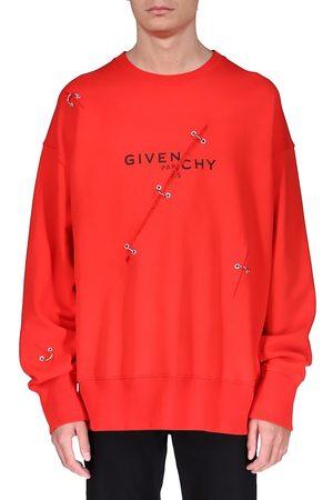 Givenchy Men's Logo Trompe L'Oeil Sweatshirt - - Size XS