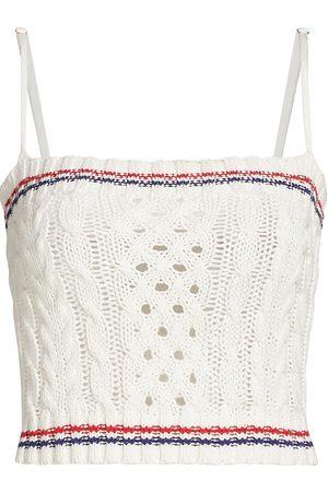 Le Superbe Women's Cashmere-Blend Cable-Knit Crop Top - - Size XS