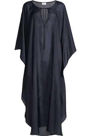 POUR LES FEMMES Women's Marrakesh Silk Caftan - Midnight - Size Medium
