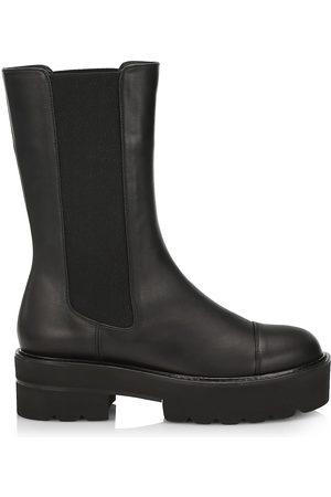 Stuart Weitzman Women's Presley Lug-Sole Leather Chelsea Boots - - Size 8
