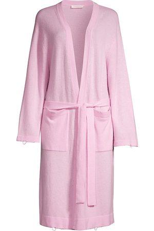 LOVESHACKFANCY Women's Bisou Wool-Blend Duster Robe - Pastel - Size Small