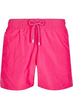 Vilebrequin Men's Unis Swim Trunks - Rose Shock - Size Medium