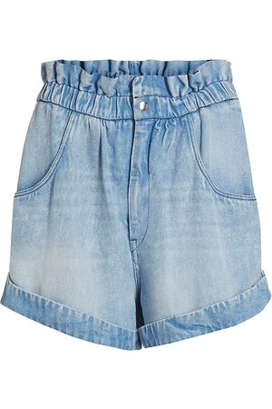 Isabel Marant Women's Itea Denim Paperbag Shorts - - Size 10
