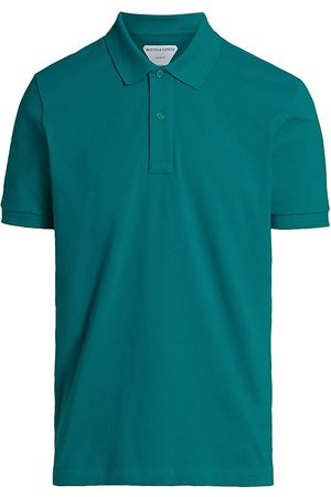 Bottega Veneta Men's New Dry Piquet Polo Shirt - Duck - Size Large
