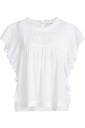 Isabel Marant Women's Layona Cotton Ruffle Blouse - - Size 10