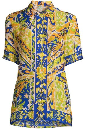 Robert Graham Women's Leila Mosaic Print Blouse - Size Small