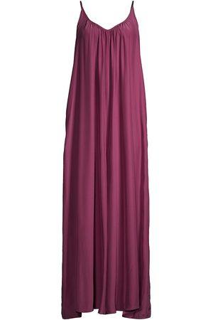 POUR LES FEMMES Women's Silk Charmeuse Jumpsuit - Plum - Size XL