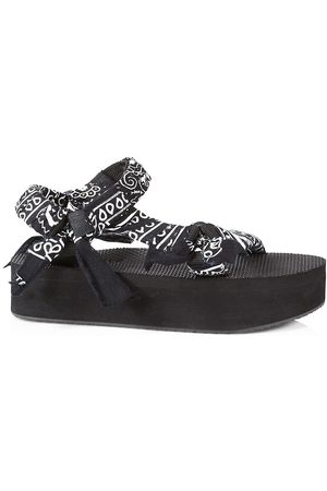 Arizona Love Women's Trekky Printed Platform Sandals - Platform Bandana - Size 6