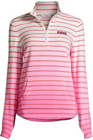 Vineyard Vines Women's Dip-Dyed Striped Shep Shirt - Lobster Reef - Size XS