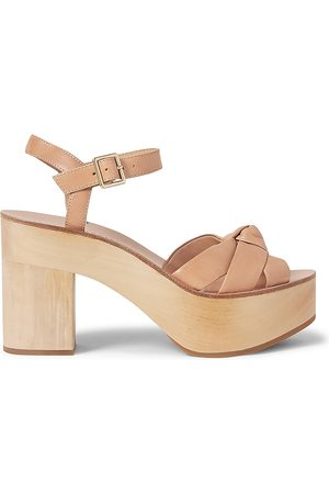 Loeffler Randall Women's Elsa Leather Platform Sandals - Honey - Size 9