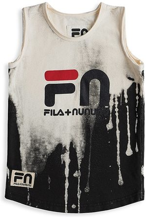 Nununu x Fila Kid's Logo Tank Top - Natural - Size 4