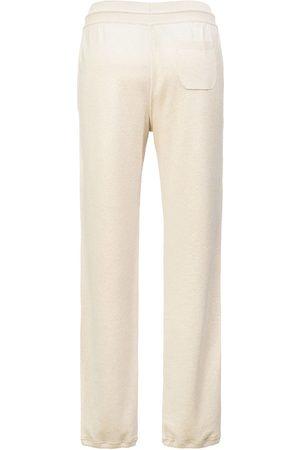 Loro Piana Women's Cashmere Jogger Pants - Natural Melange - Size 8