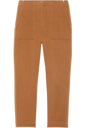 THEORY Women's Treeca Topstitched Ankle Pants - Cedar - Size 10