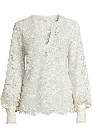 Robert Graham Women's Julia Lace Blouse - - Size XS