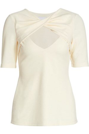 Acler Women's Brighton Twist-Front Keyhole Top - Butter - Size 4