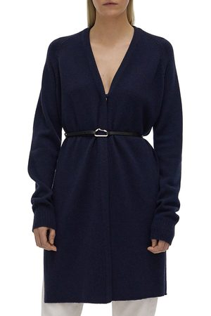 Helmut Lang Women's Belted Long Cardigan - Midnight - Size Small