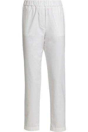 ST. JOHN Women's Sport Cotton Sateen Pull-On Pants - Khaki - Size XS