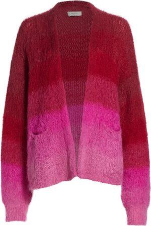 Isabel Marant Women's Dana Mohair-Blend Ombré Cardigan - Fuchsia - Size 2